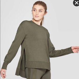 Joy Lab Target Olive Green Side Slit Sweatshirt